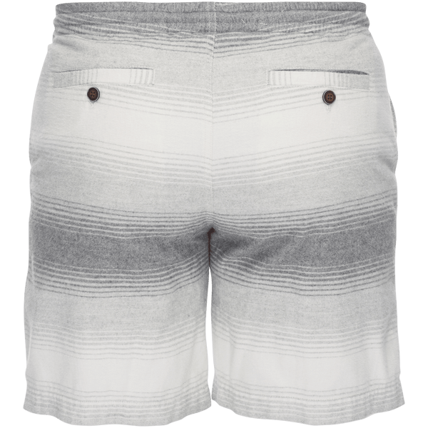 Steve Pull On Brushed Cotton Short in Gray Ombre Stripe