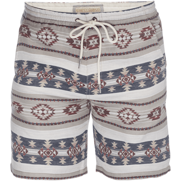 Steve Jacquard Pull On Short in Navajo Multi Stripe
