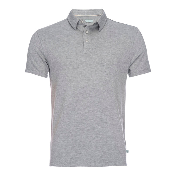 Nicholas Modal One Pocket Polo in Heather Gray