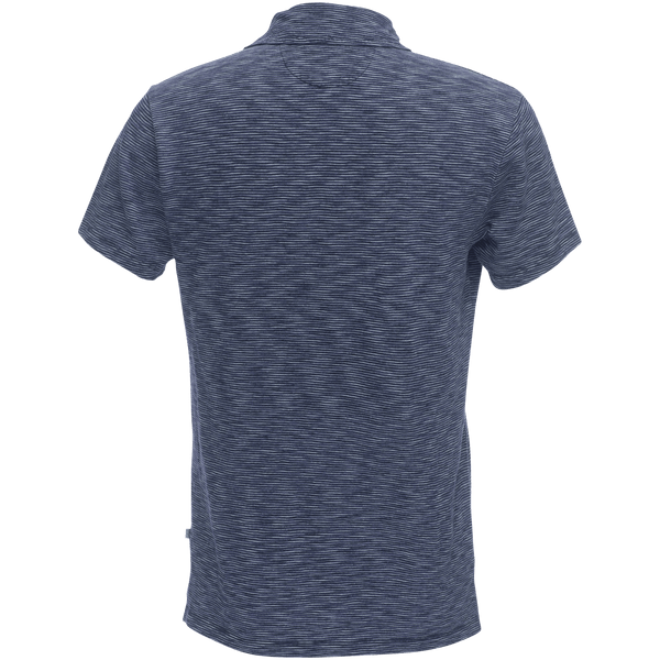 Nicklaus Slot Button Polo in Indigo/White Stripe