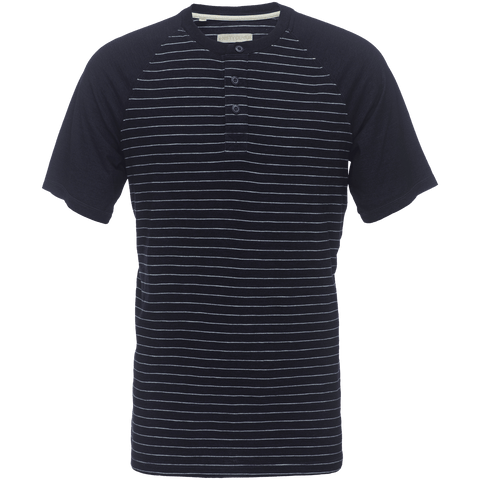 James Raglan Henley in Indigo Stripe