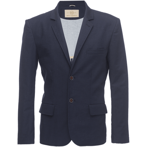 Kurt Notched Lapel Blazer In Stretch Pique