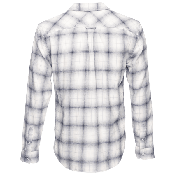 Truman Square Pocket Brushed Cotton in White Plaid