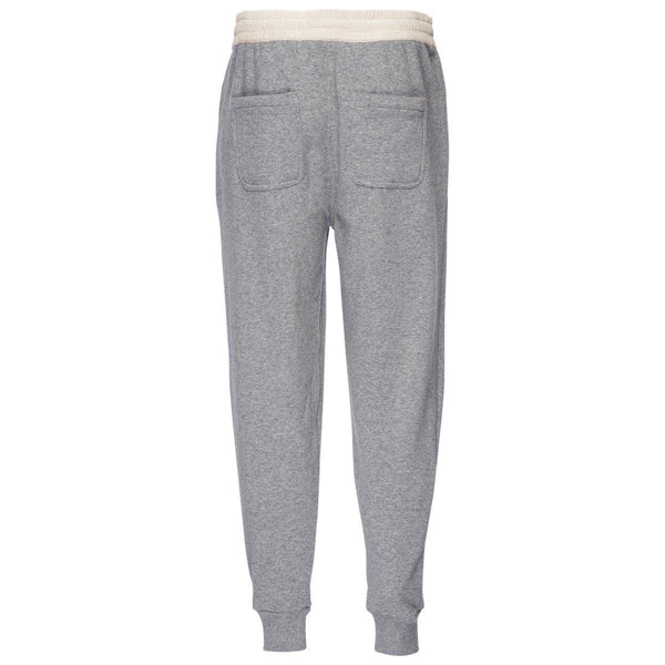 Robinson Velour Back Jogger in Heather Gray