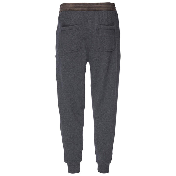 Robinson Velour Back Jogger in Dark Gray