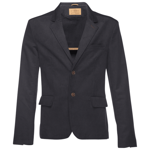 Kurt Notched Lapel Blazer in Stretch Corduroy