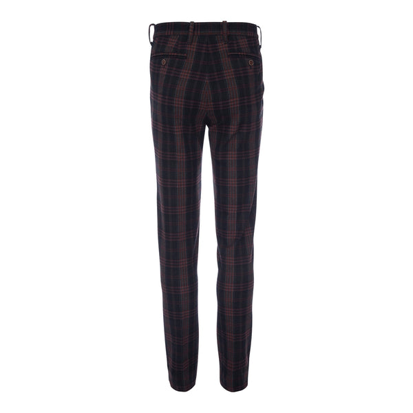 Thomas Stretch Dress Chino in Navy Plaid