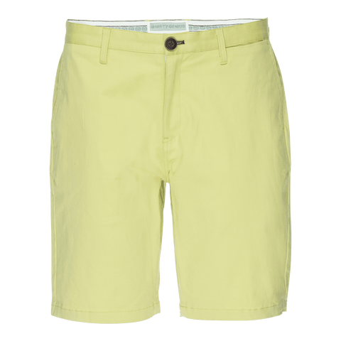 Morgan Bermuda Short in Solid Stretch Yellow Twill
