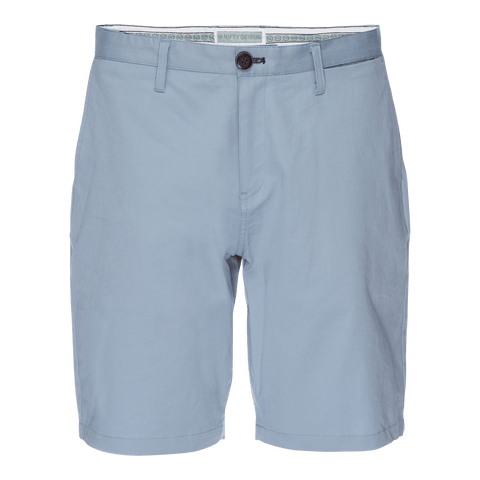 Morgan Bermuda Short in Solid Stretch Blue Twill