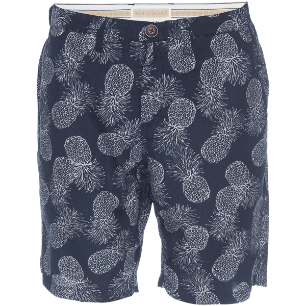 Morgan Bermuda Seersucker Short in Pineapple Print