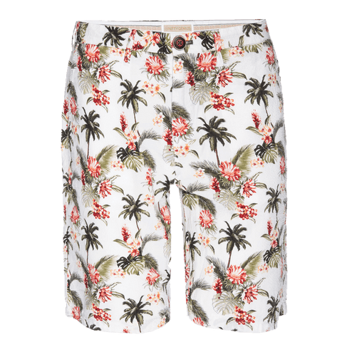 Morgan Bermuda Short in Seersucker Island Palm Print