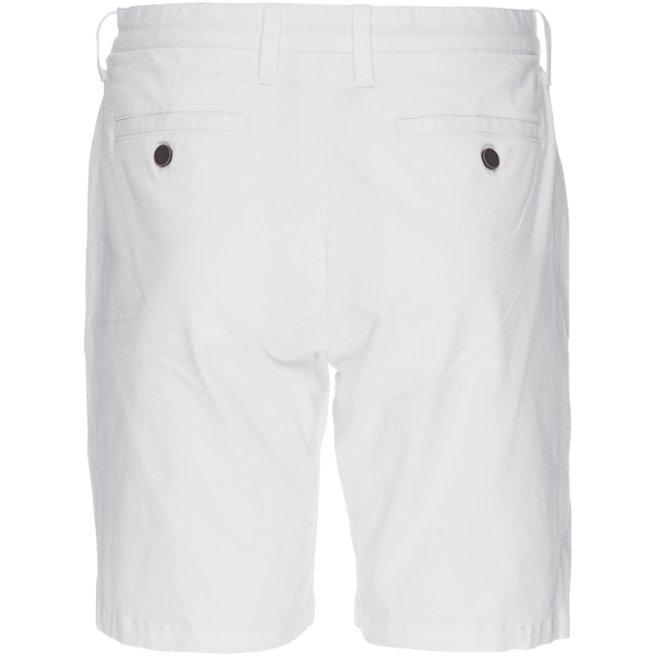 Morgan Bermuda Short in Solid Stretch White Twill