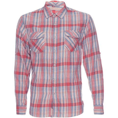 Truman Flap Pocket Shirt in Red Plaid