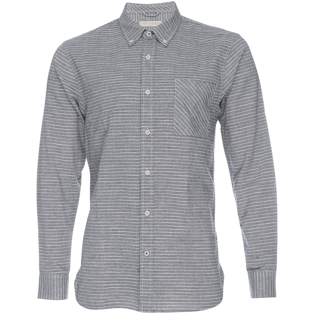 Truman Button Collar in Stripe