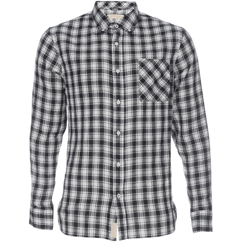Truman Button Collar in Plaid Double Face