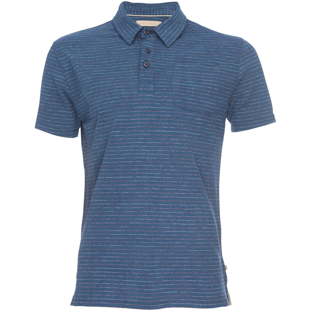 Nicklaus Polo in Navy/Red Stripe