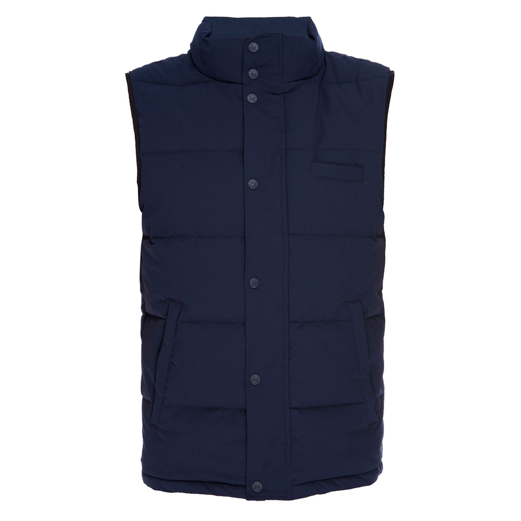Quilted Vest in Navy