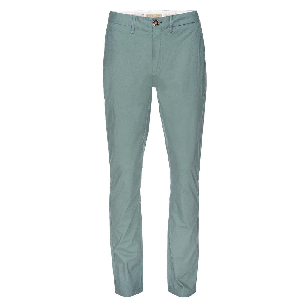 J.P. Stretch Typewriter Cloth Chino in Seafoam