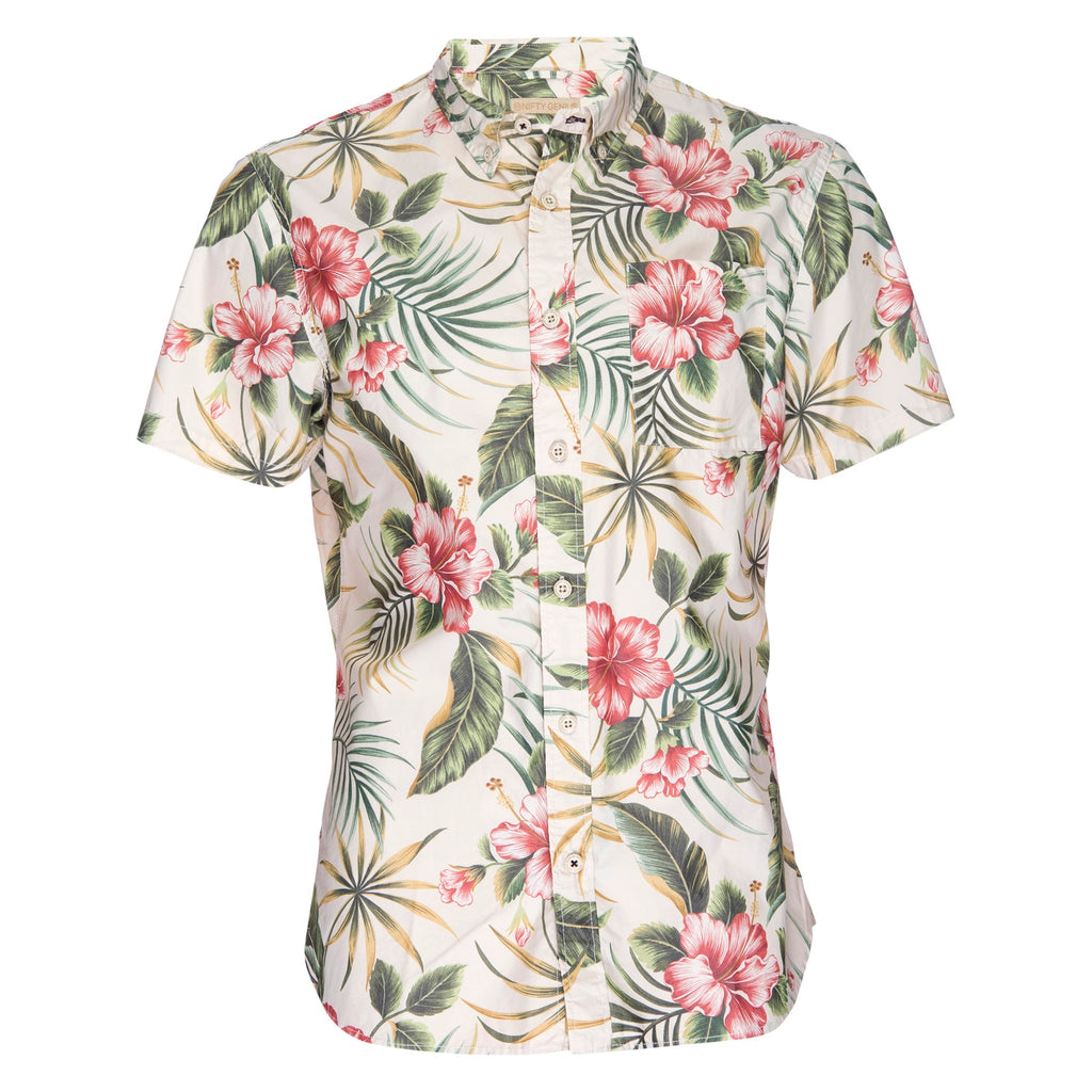 Truman Button Collar in Hawaiian Print
