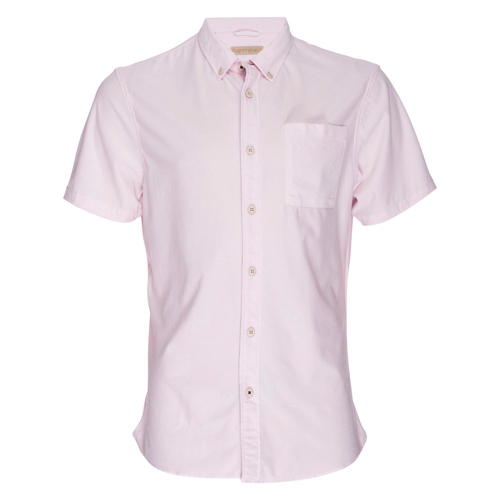 Truman Button Collar Oxford in Pink