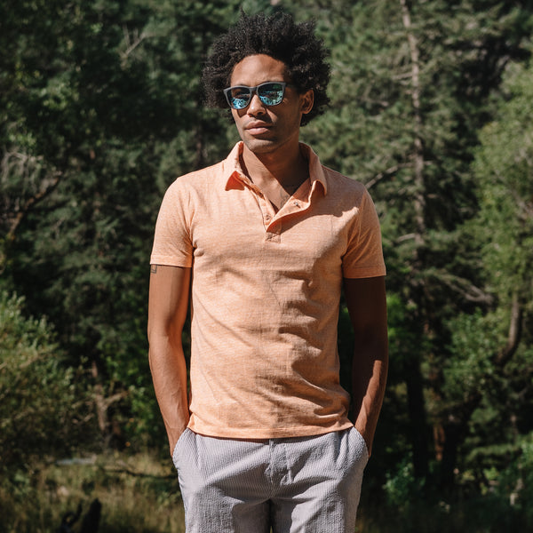 Nicklaus Recycled Cotton/Poly Polo in Orange