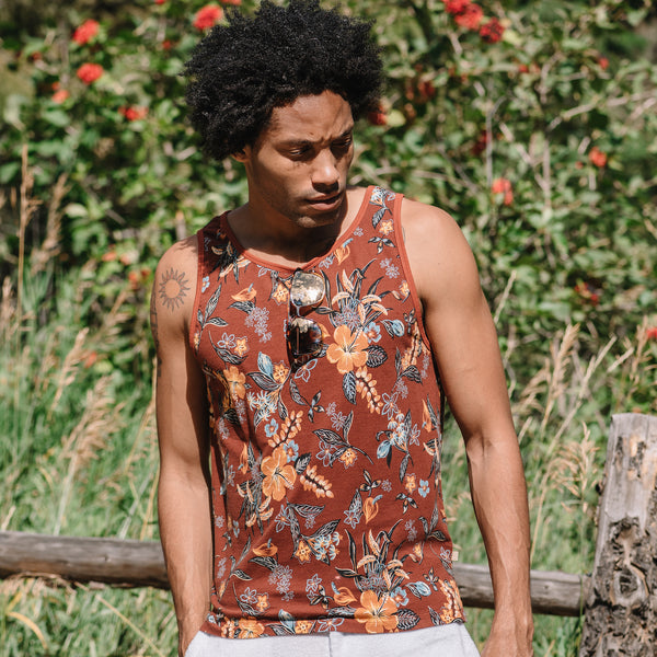 Tank in Hawaiian Print
