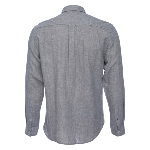 Truman Button Collar Double Face in Gray