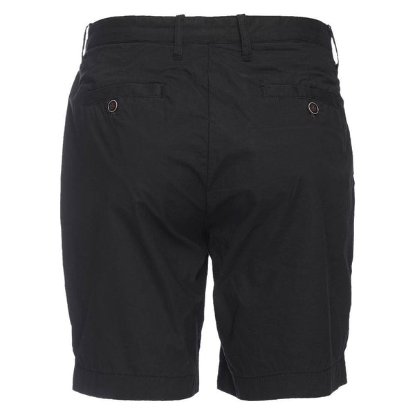 Morgan Bermuda Stretch Typewriter Cloth Short in Black
