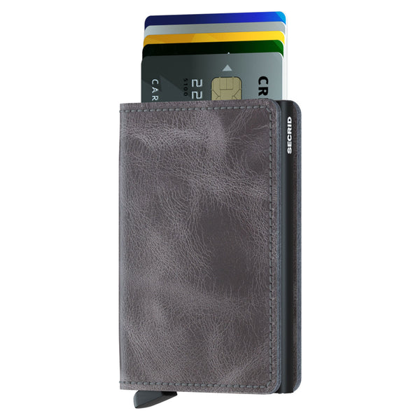 Slimwallet Vintage in Grey-Black