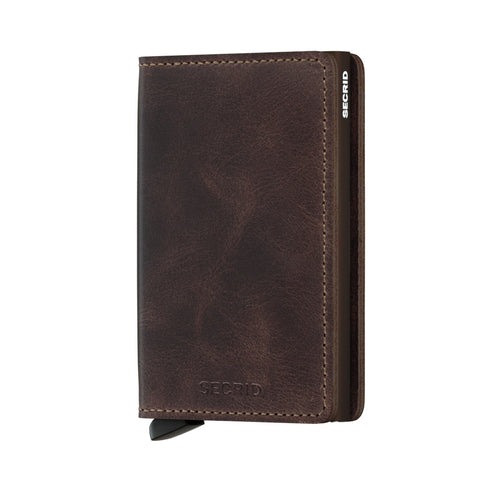 Slimwallet Vintage in Chocolate