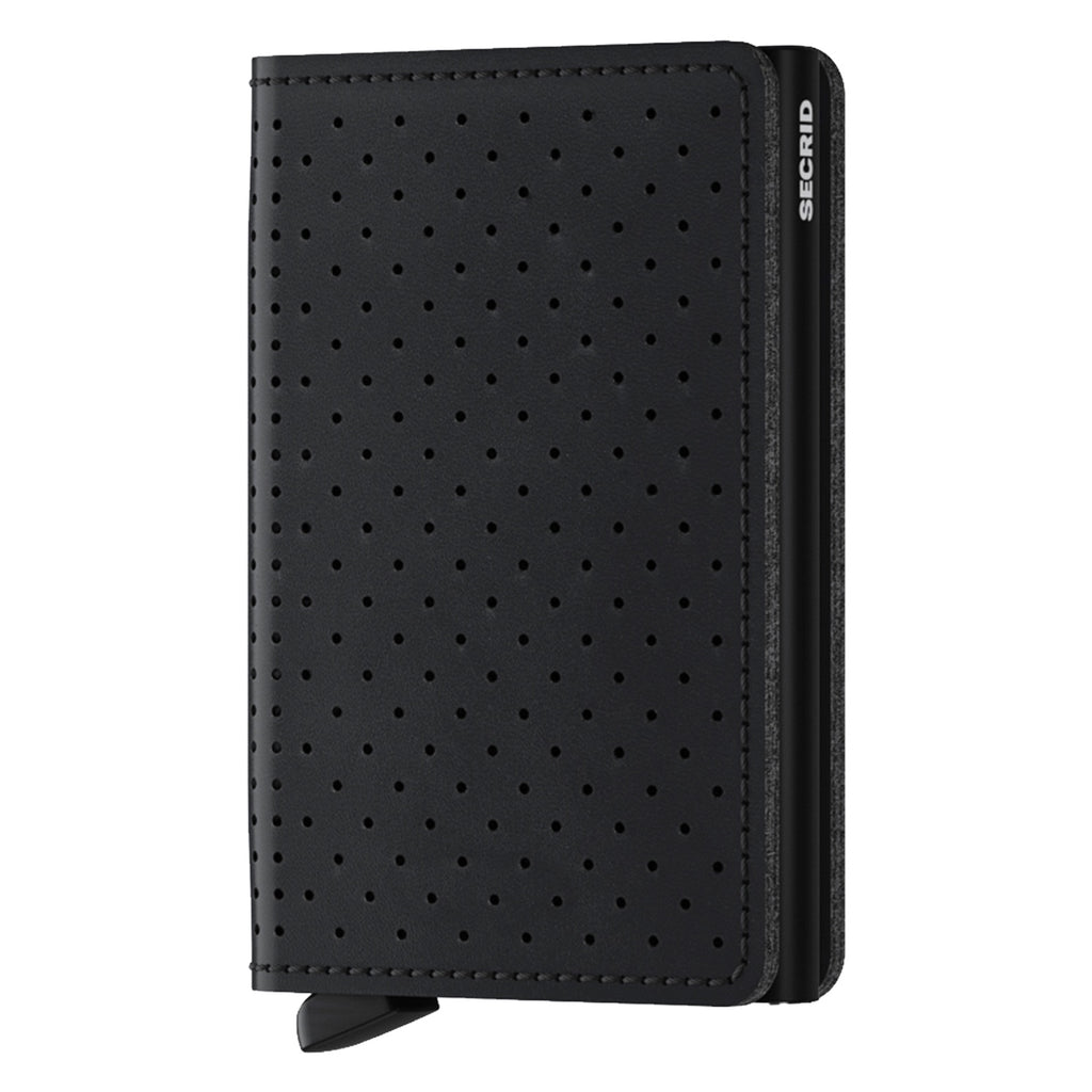 Slimwallet Perforated in Black