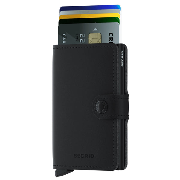 Miniwallet Vegan Soft Touch in Black