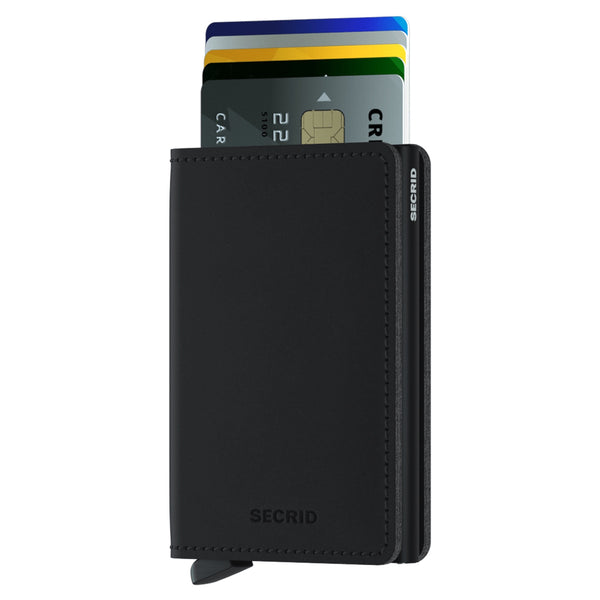 Slimwallet Vegan Soft Touch in Black