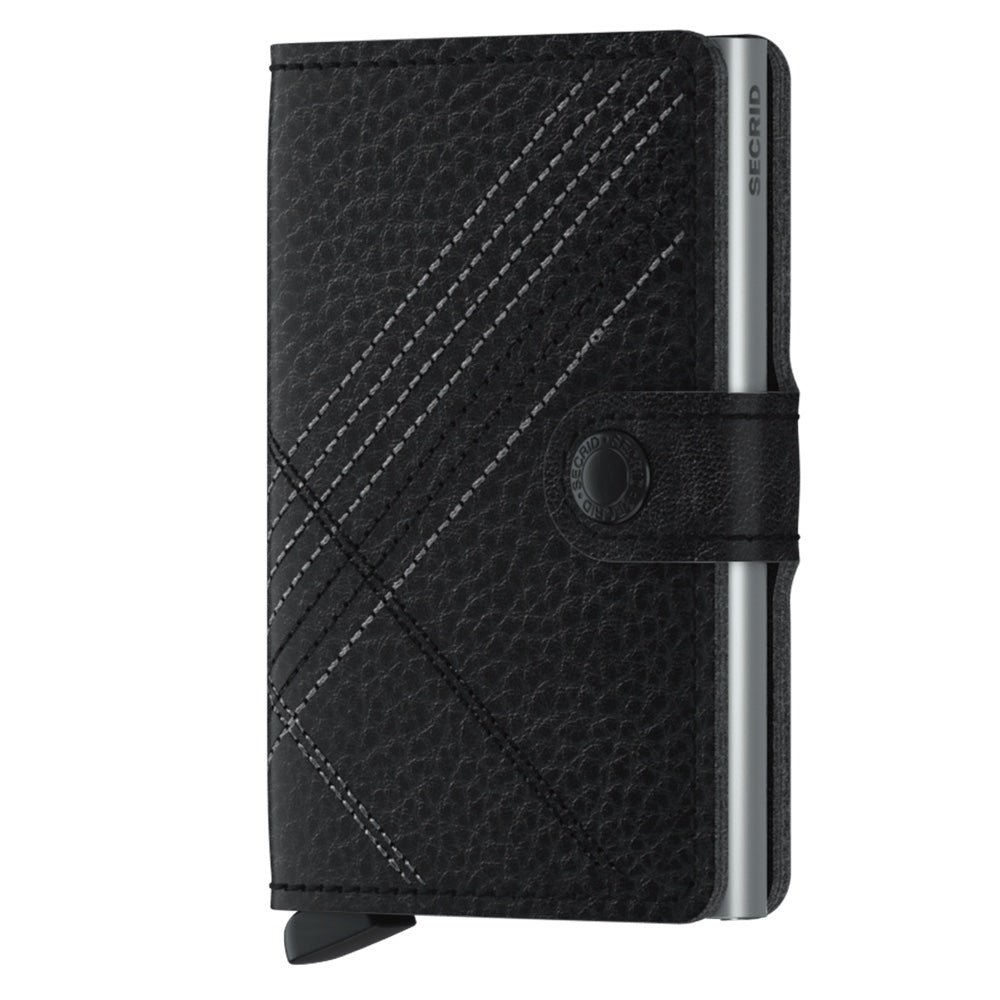 Miniwallet Stitch Linea in Black