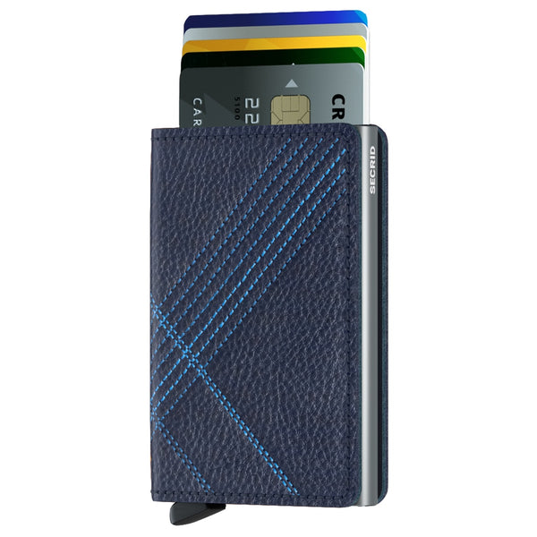 Slimwallet Stitch Linea in Navy