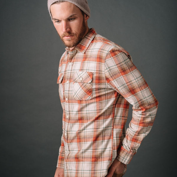 Truman Outdoor Shirt in Rust Plaid