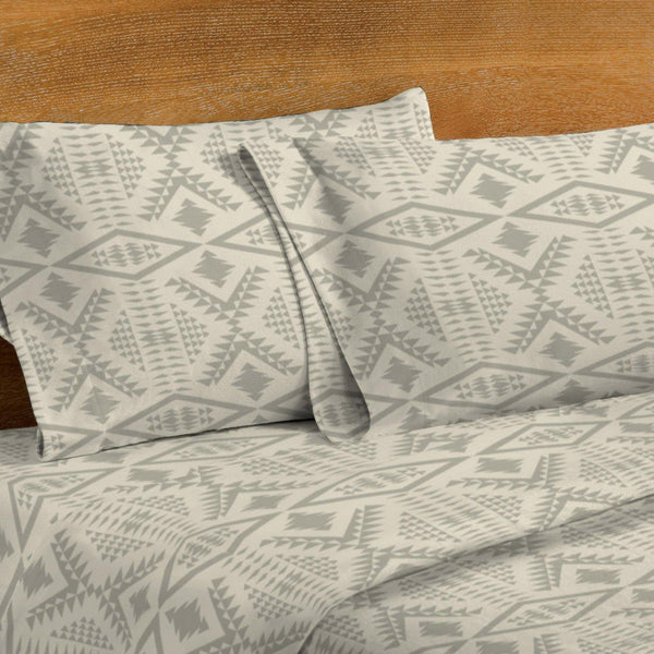 Harding Diamond River Flannel King Sheet Set