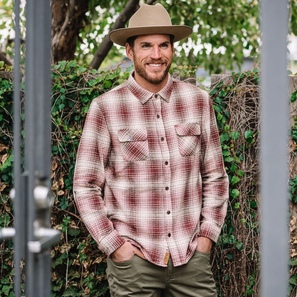 Truman Outdoor Shirt In Oversized Ombre Plaid