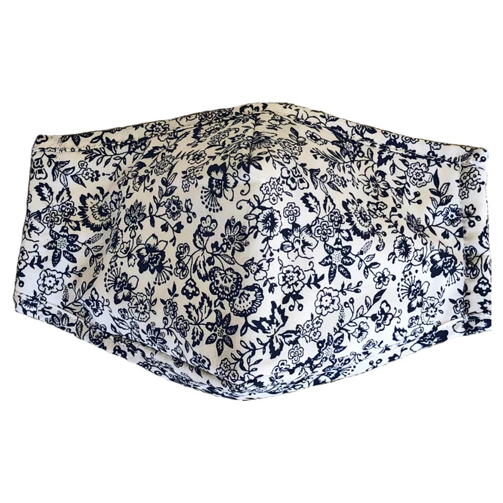 Mask in Navy Floral Print