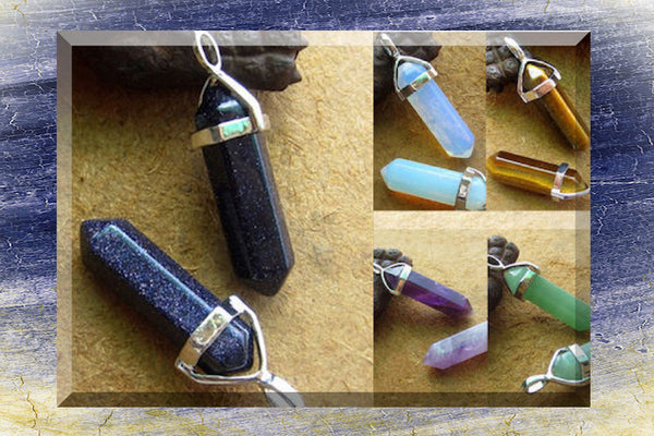 Natural Stone Energy and Healing Point Pendant