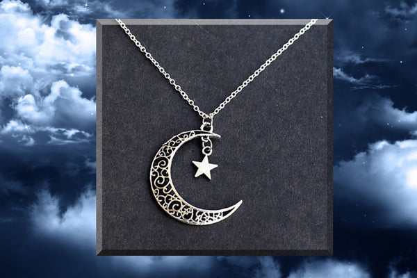 Crescent and Star Pendant