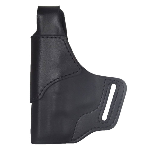 Leather Smith and Wesson Shield 9 / 40 Holster - Made in USA - Front - Black