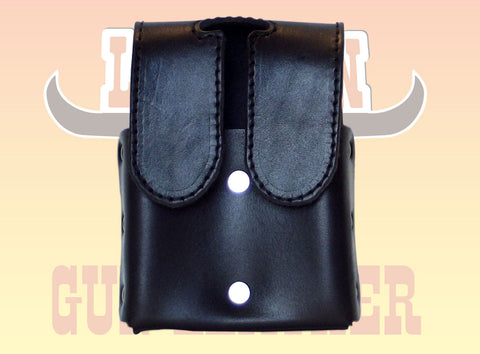 Premium Leather OWB Double Magazine With Velco Closure