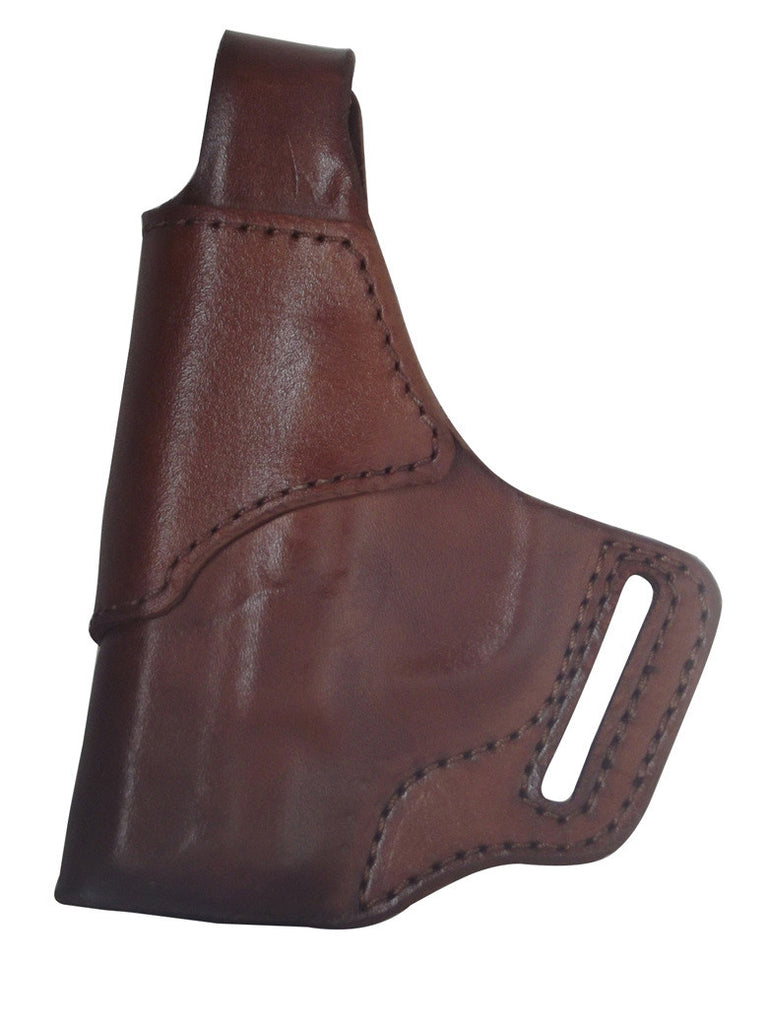 S&W J-Frame Premium Leather OWB Holster RH or LH in Black or Brown