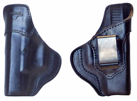 Glock 19/23/32/38 Holster IWB Premium US Leather RH or LH Black or Brown