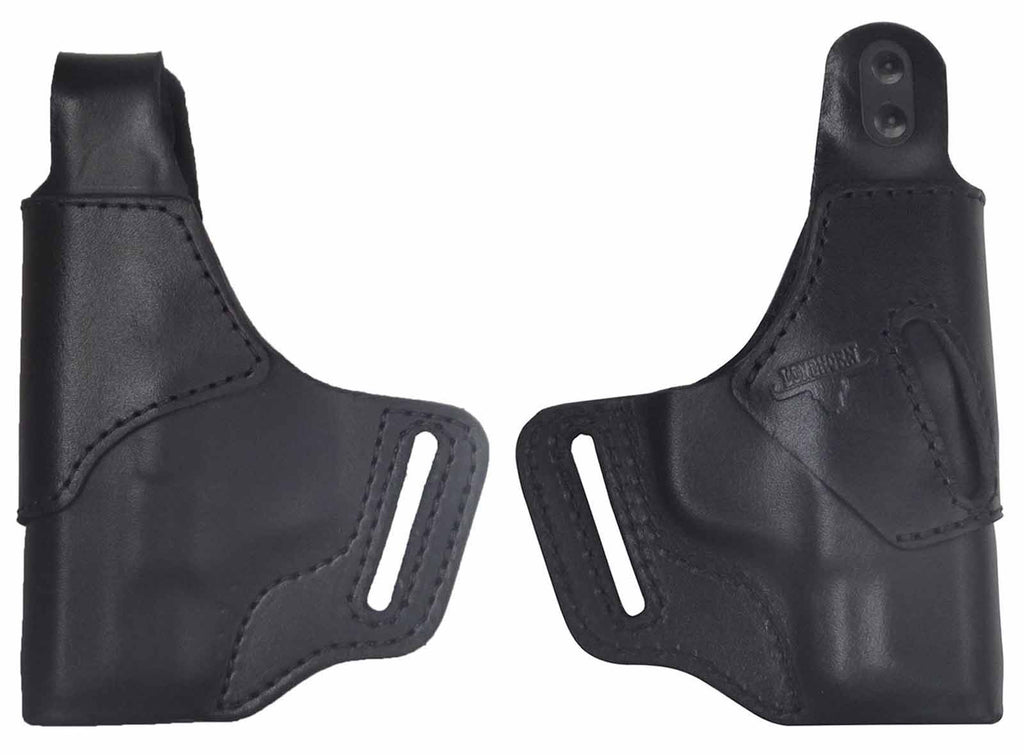 Ruger LCP Premium Leather OWB Holster RH or LH in Black or Brown