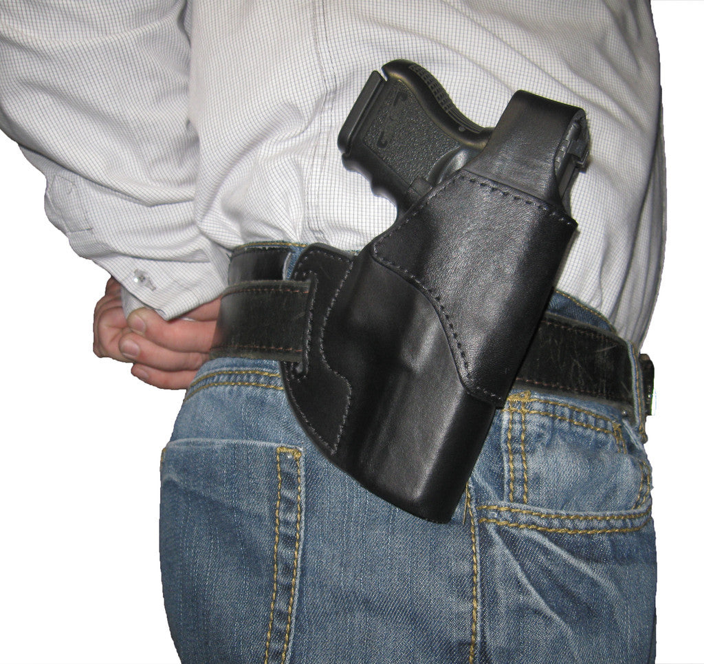 All Model Glock Holster - Fits Glock 17 / 19 / 22 / 23 / 26 / 27. The Best Leather Holster for Glocks