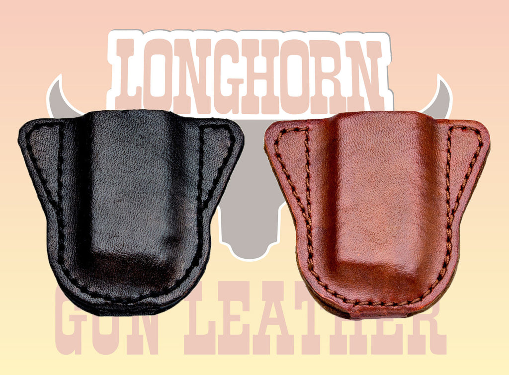 Premium Leather Magazine Protector / Dust Cap for Pocket Carry