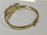 Baby Personalized 14K Gold Plate Any 3D Double Name Bracelet Bangle/Gold Overlay