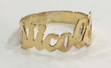 Personalized 14k Gold Plated One Finger Any Name Ring/1